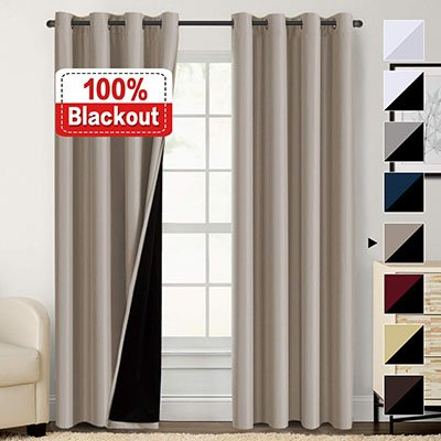Flamingo P Energy Smart and Noise Blocking Out Window Curtain Set