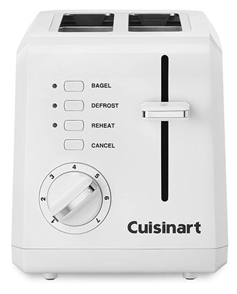 Cuisinart 2-Slice Compact Plastic Toaster