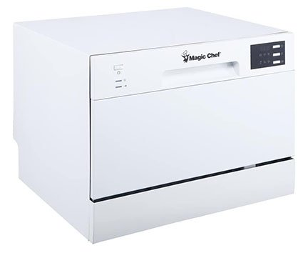 Magic Chef Energy Star MCSCD6W5 Countertop Dishwasher