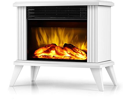 Donyer Power 14.5-in Mini Electric Fireplace