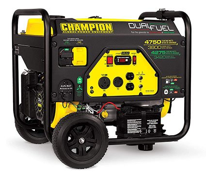 Champion 3800-Watt Dual Fuel RV Ready Portable Gas Generator