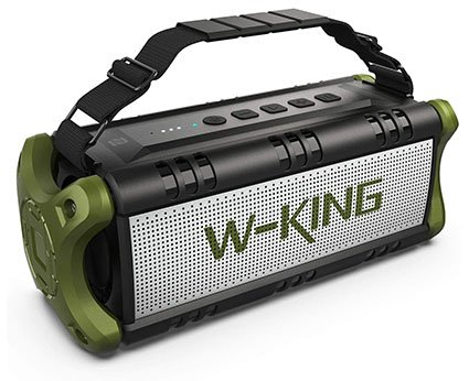 W-King 50W (70W Peak) Wireless Bluetooth Speakers with Built-in 8000mAh Battery Power Bank