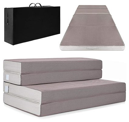 Best Choice Products 4in Folding Mattress Topper
